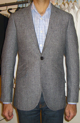 Herringbone tweed jacekt