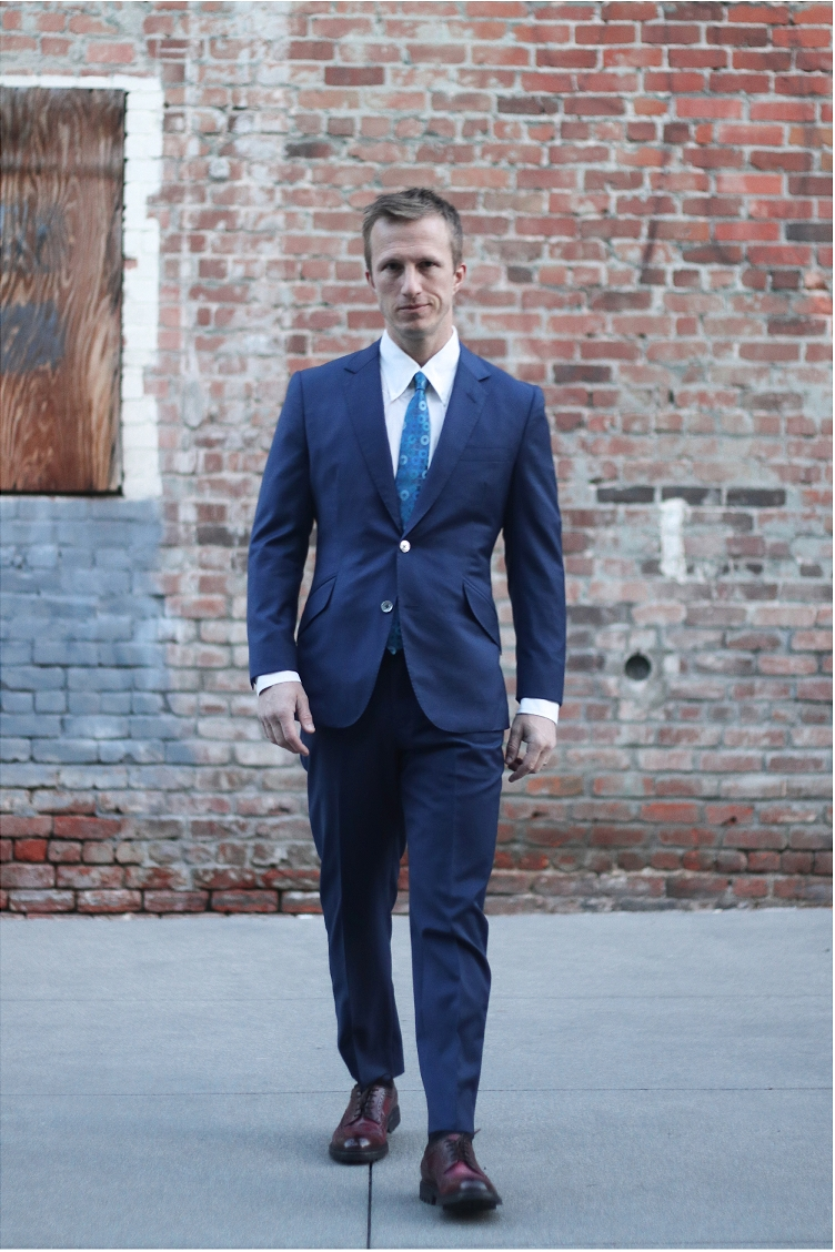 Wedding suit navy 1