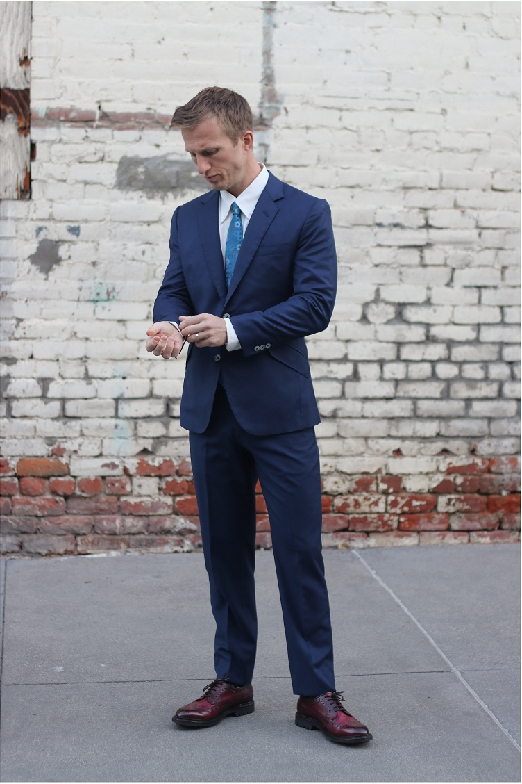 Wedding suit navy 2