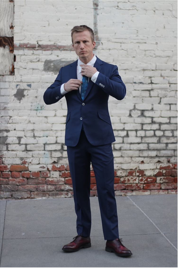 Wedding suit navy 3