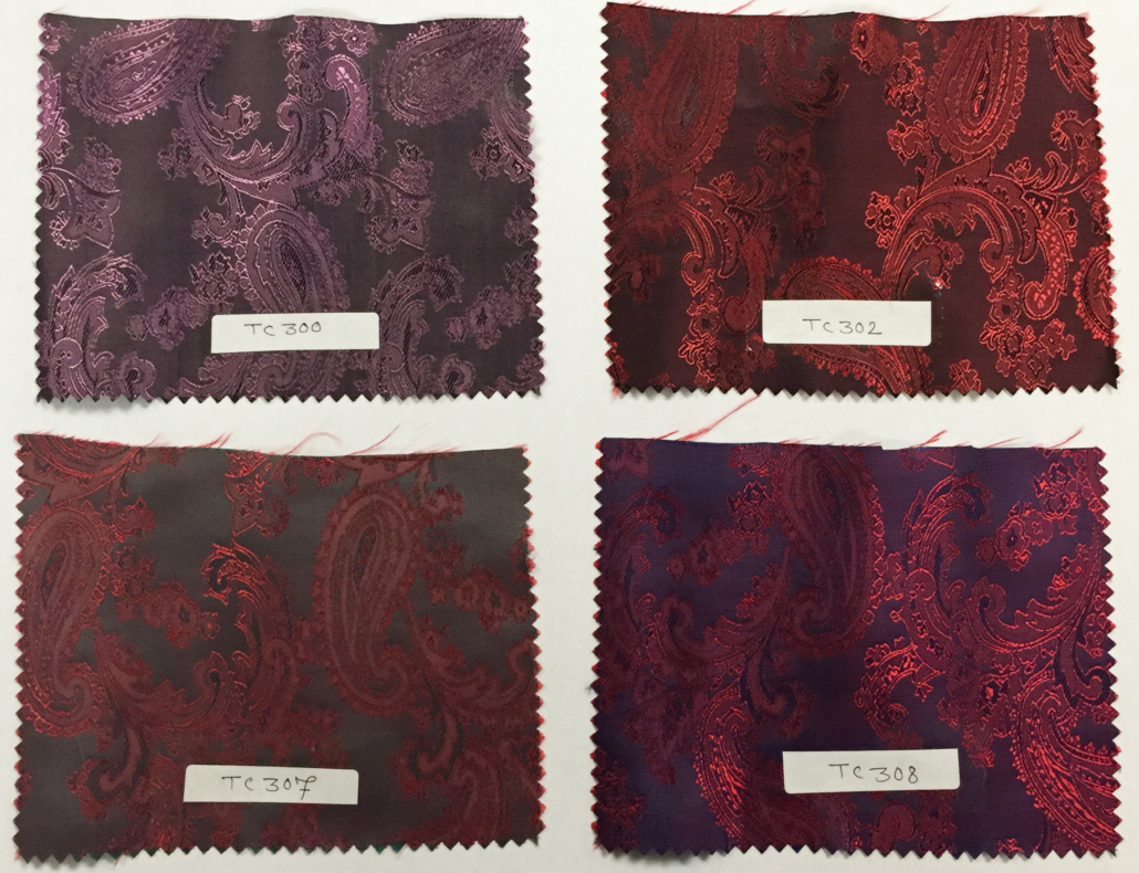 Suit Liner Fabric Red Paisley