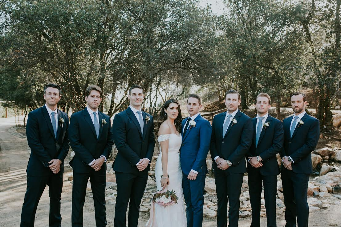 Blake Paige Wedding Party Suits
