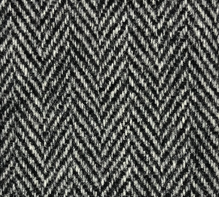 Grey Herringbone Tweed Suit Fabric