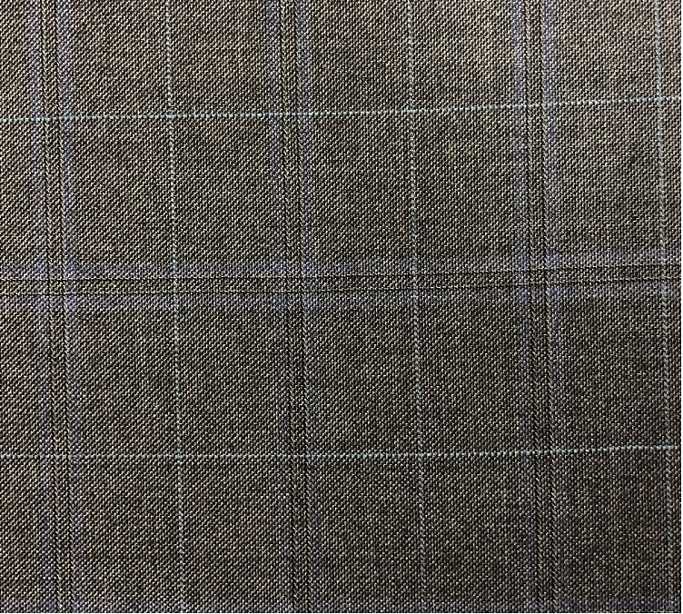 Med Grey Check Suit Fabric